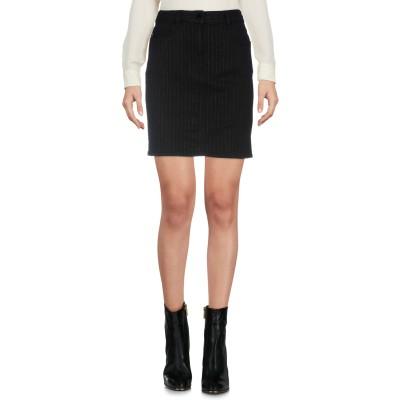 ラブ モスキーノ LOVE MOSCHINO ミニスカート ブラック 44 コットン 96% / ポリウレタン 2% / ナイロン 1% / ポリエ