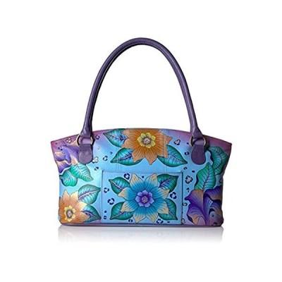 Anna by Anuschka Tote Bag | Genuine Leather | Wide, Tropical Safari