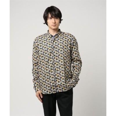 シャツ ブラウス 総柄長袖シャツ
