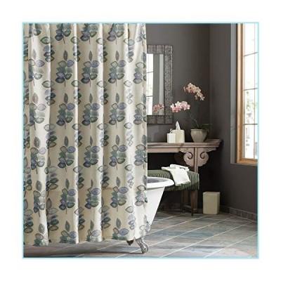 新品Croscill Mosaic Leaves Spa Shower Curtain, Light Cream