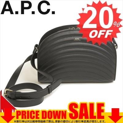 アーペーセー バッグ ショルダーバッグ A.P.C. HALF MOON SHOULDER BAG PXBMO F61048  LZZ NOIR ハーフムーン 比較対照価格68,200 円