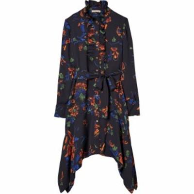 トリー バーチ TORY BURCH レディース ワンピース シャツワンピース Cora Floral Long Sleeve Handkerchief Hem Shirtdress Ceramic Bouq
