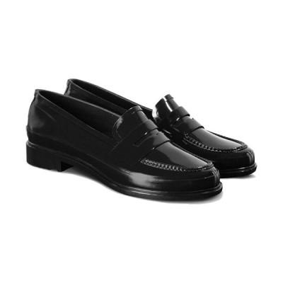ハンター(HUNTER) レディース オリジナル ペニー ローファー ブラック WFF1006RGL BLK 靴 シューズ スリッポン レインシューズ