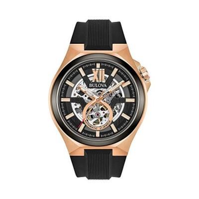 ブローバ Bulova メンズ腕時計 自動巻き シリコンストラップ 98A177