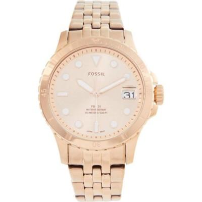 フォッシル Fossil レディース 腕時計 36 mm Blue - ES4748 Rose Gold