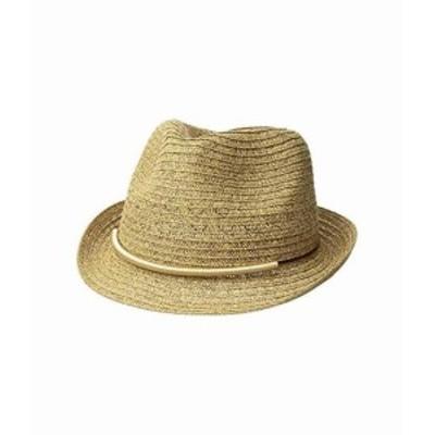 サン ディエゴ ハット カンパニー レディース ハット キャップ 帽子 UBF1106 Fedora w/ Metallic Bar Trim