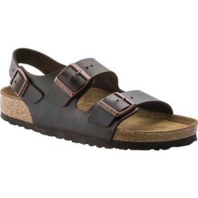 ビルケンシュトック Birkenstock レディース サンダル・ミュール シューズ・靴 Milano Amalfi Leather with Soft Footbed Brown Amalfi L
