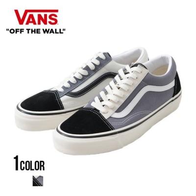"""スニーカー メンズ オールドスクール """"VANS【バンズ】ANAHEIM Old Skool 36 Dx (Anaheim Factory) Og Black/Og Gray/Og White/全1色""""ヴァンズ 黒"""