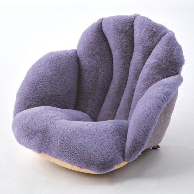 クッション チェアクッション 椅子 グレー ウレタン入り ふわふわ あたたか 腰 冬 起毛素材 防寒 冷え対策