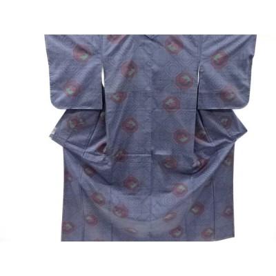 宗sou 未使用品 蜀江に楓模様織り出し本場泥大島紬着物(5マルキ)【リサイクル】【着】