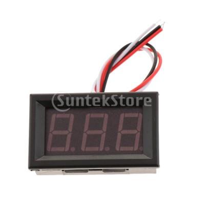 F Fityle デジタル電圧計 小型 LED 3線式 DC 0-100V 電圧測定
