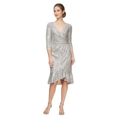 ユニセックス スカート ドレス Short Sequin Dress w/ Ruffle Detail Skirt