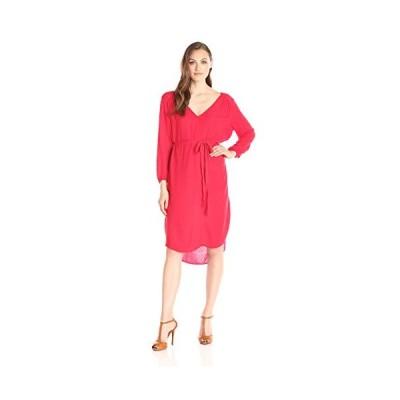 ベルベット BY GRAHAM & SPENCER レディース Damask Rayon ネクタイ ウエスト ドレス, Punch, (海外取寄せ品)