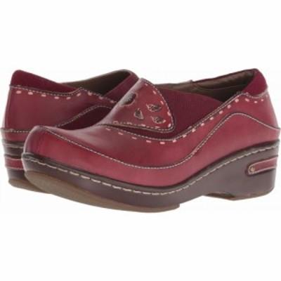 スプリングステップ LArtiste by Spring Step レディース クロッグ シューズ・靴 Burbank Bordeaux