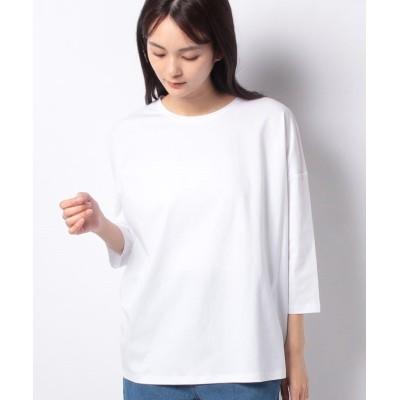 (COMME CA ISM/コムサイズムレディス)5分袖 Tシャツ/レディース ホワイト