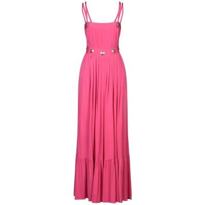 W LES FEMMES by BABYLON ロングワンピース&ドレス フューシャ 40 キュプラ 92% / ポリウレタン 8% ロングワンピー
