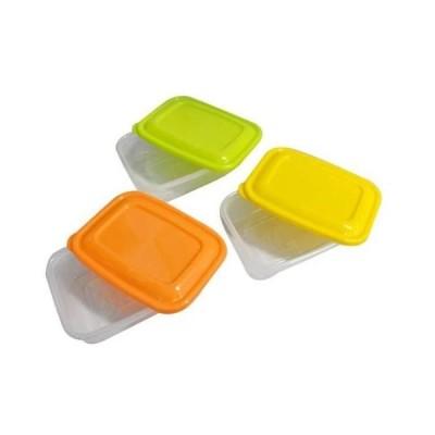 激安 セール(まとめ)プラスチック 保存容器 カラフルライトパック 500ml 3個組 〔×3セット〕ポイント2倍