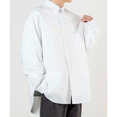 シャツ ブラウス WEGO/ブロードスリットビッグシルエットシャツ