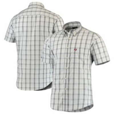 Antigua アンティグア シャツ ポロシャツ Antigua Tampa Bay Buccaneers Black Woven Button-Down Shirt