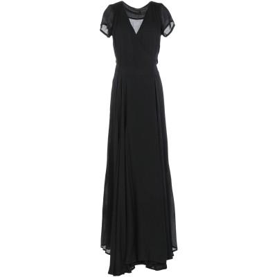 MARIAGRAZIA PANIZZI ロングワンピース&ドレス ブラック 40 レーヨン 100% ロングワンピース&ドレス