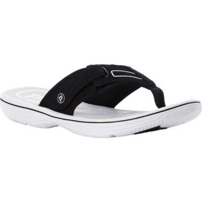 プロペット Propet レディース サンダル・ミュール トングサンダル シューズ・靴 Edie Thong Sandal Black Microfiber