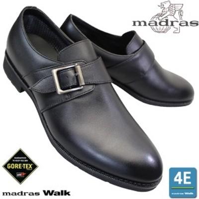 マドラスウォーク MW5908 黒 メンズ ビジネスシューズ モンクストラップ 本革 4E 防水 通気性 日本製