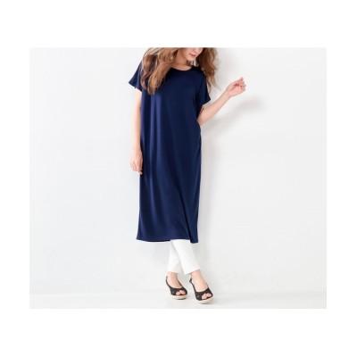 大きいサイズ タックコクーンカットソーワンピース ,スマイルランド, ワンピース, plus size dress