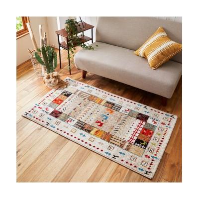 素朴でやさしい空間に包まれる!ギャベ調デザインのウィルトン織りラグ(イビサ) ラグ, Rugs(ニッセン、nissen)