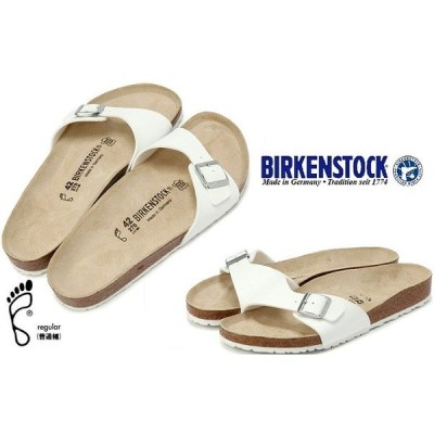 BIRKENSTCK ビルケンシュトック 靴  ビルケン  MADRIDマドリッド 040731 普通幅 白ホワイト サンダル レギュラータイプ