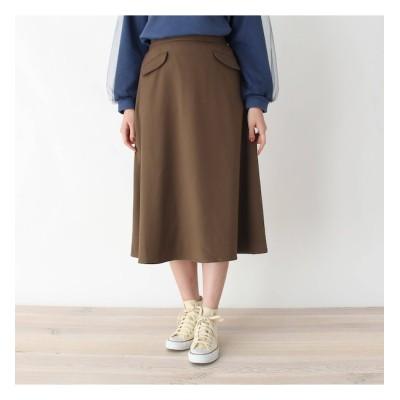 【ピンクアドベ/pink adobe】 ポケットデザイン フレアスカート