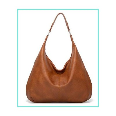 【新品】Women Handbag Leather Satchel Purse Handbag Vintage Top Handle Handbag Work Tote Bag (Brown)(並行輸入品)