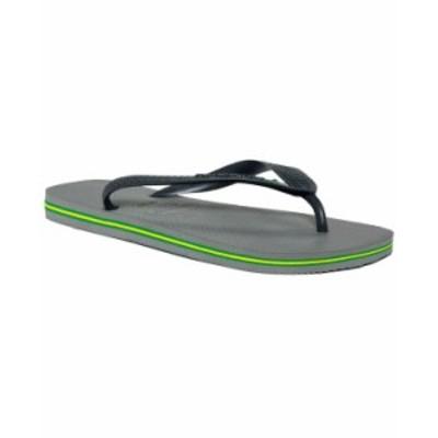 ハワイアナス メンズ サンダル シューズ Men's Brazil Flip-Flop Sandals Grey
