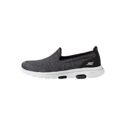 スケッチャーズ レディース スニーカー シューズ GO WALK 5 - Walking trainers - black/white black/white