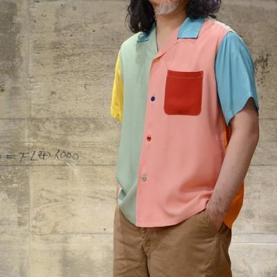 【セール品】 STYLE EYES(スタイルアイズ) S/S ボウリングシャツ CRAZY PATTERN レーヨン クレイジー