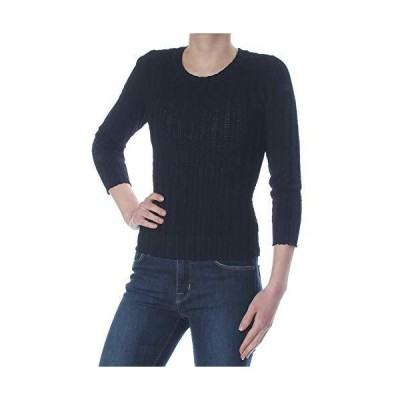 Rachel Roy Womens Navy Back Cutout Long Sleeve Jewel Neck Sweater Size XS並行