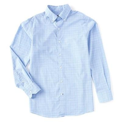 ダニエル クレミュ メンズ シャツ トップス Plaid Blue Long-Sleeve Woven Shirt