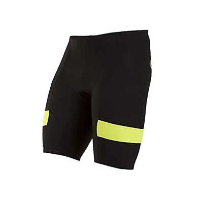 [新品]Pearl iZUMi Men's Escape Quest Splice Shorts, Black/Screaming Yellow, Large