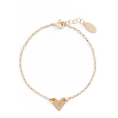 ナシェル NASHELLE レディース ブレスレット ハート ジュエリー・アクセサリー Initial Heart Bracelet Gold