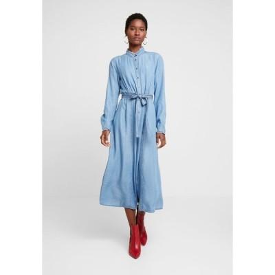 クリーム ワンピース レディース トップス VINCACR DRESS - Denim dress - blue denim