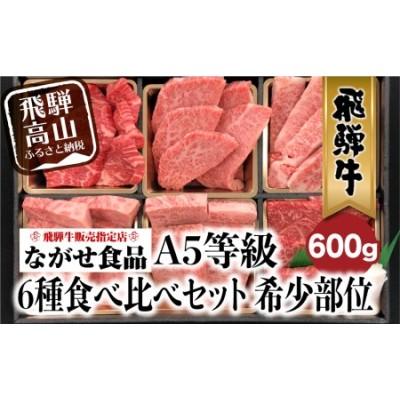 飛騨牛 6種食べ比べ セット 600g(100g×6) 希少部位 A5等級 牛肉 肉 個包装 飛騨高山 c536