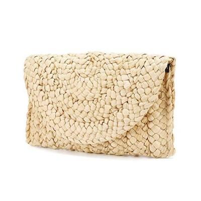 Straw Clutch Purse, JOSEKO Women Straw Envelope Bag Wallet Summer Beach Handbag Beach Clutch Purse wicker purse【並行輸入品】