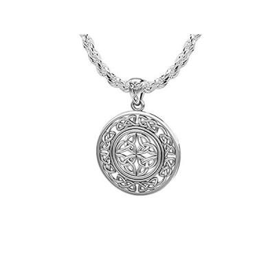 【新品】US Jewels And Gems レディース 15/16インチ 925スターリングシルバー アイリッシュケルトノットワークペンダントネックレス 1