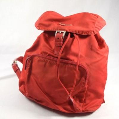 PRADA / プラダ ■リュック ナイロン レッド ブランド【バッグ/バック/BAG/鞄/カバン】 【中古】