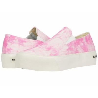 シービーズ スニーカー シューズ レディース Baja Slip-On Platform Tie-Dye Pink