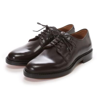 ロンドンシューメイク London Shoe Make グッドイヤーウエルトオールレザーハンドメイドプレーントゥダービー(ブラウン)