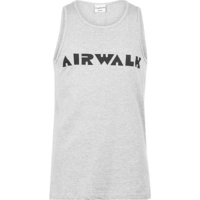 エアウォーク Airwalk メンズ タンクトップ トップス Logo Vest Grey