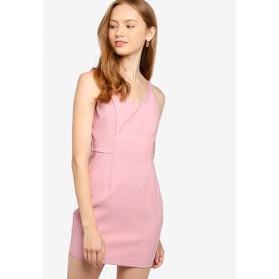 サムシングボロウド Something Borrowed レディース ボディコンドレス ワンピース・ドレス Back Zipper Bodycon Dress Pink