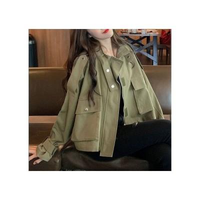 ミリタリーカジュアルジャケット レディースファッション アウター アウトドアウェア カジュアル 暖かい 秋 冬 2020-11-0024