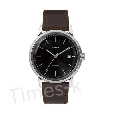 Timex メンズ マーリン 自動巻き腕時計 40mm One Size ブラック/シルバー
