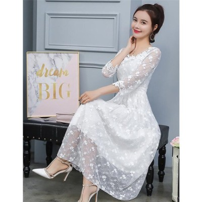 ドレス 二次会 花嫁 ワンピース レディース ウェディングドレス 白 パーティードレス 結婚式 ラインドレス レースドレス ロングドレス 演奏会 イブニングドレス